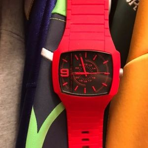 Diesel Watch Red and Black!